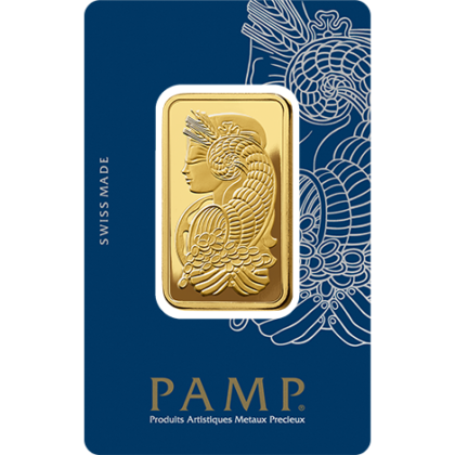 1 Ounce Pamp 999.9 Fine Gold Bar Minted