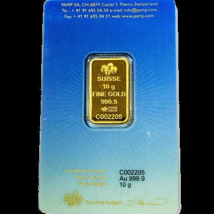 10g Pamp Suisse Khana Kaba 999.9 Fine Gold Bar